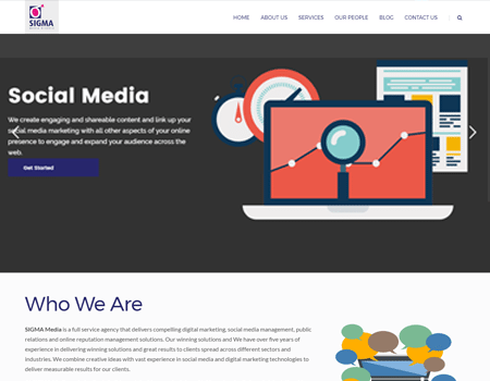 Website Design for Sigma Media