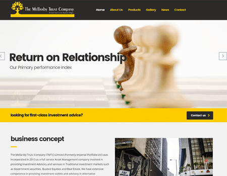 Website Design for Mellanby Trust
